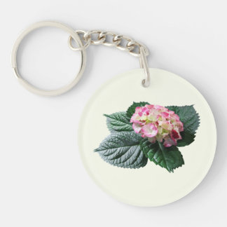 Pink and White Hydrangea Keychains