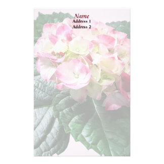 Pink and White Hydrangea Wedding Products Stationery