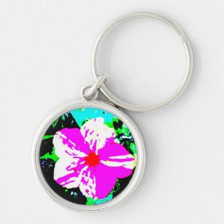 Pink and White Kaleidoscope 4 O'Clock Keychain