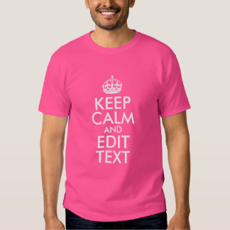 Pink and White Keep Calm and Edit Text Shirt