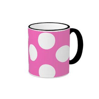 Pink and White Large Polka Dot Mug
