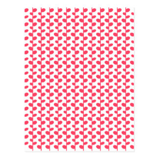 Pink and White Leaf Pattern Postcard