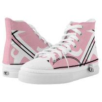 Pink and White Leverage III Custom Hi-Tops