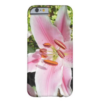 Pink and White Lily Flower Barely There iPhone 6 Case