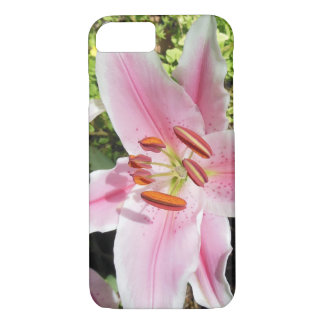 Pink and White Lily Flower iPhone 8/7 Case
