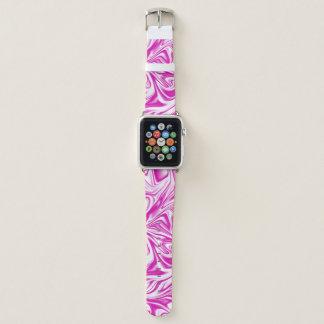 Pink and White Liquid Digital Art Apple Watch Band