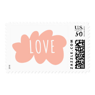 Pink /And White Love Paint splat Cloud - Wedding Postage