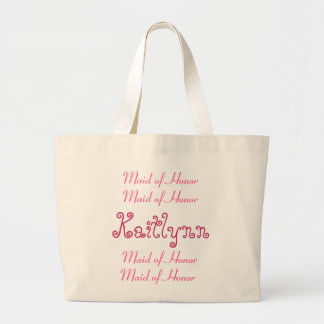 Pink and White Maid of Honor Wedding Bag