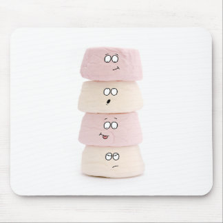 pink and white marshmallow characters mouse mat