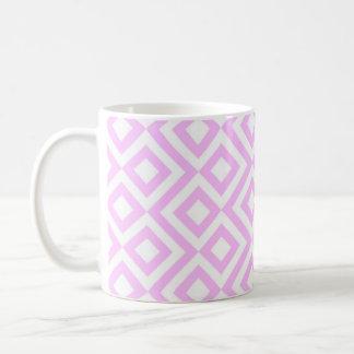 Pink and White Meander Coffee Mug