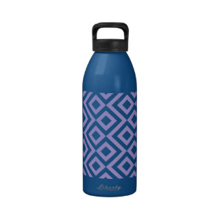 Pink and White Meander Water Bottles