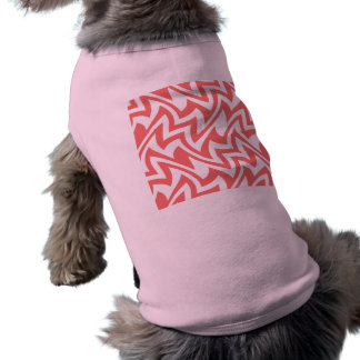 Pink and White Modern Abstract Geometric Patterns Tee