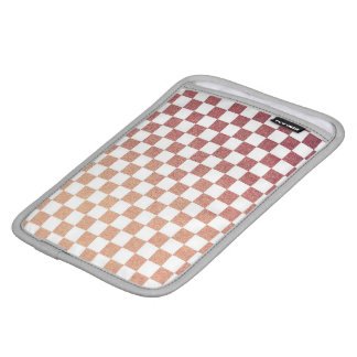 Pink and White Modern Gingham Check Sleeve For iPad Mini