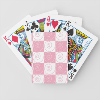 Pink and White Mouse Tails Bicycle Playing Cards