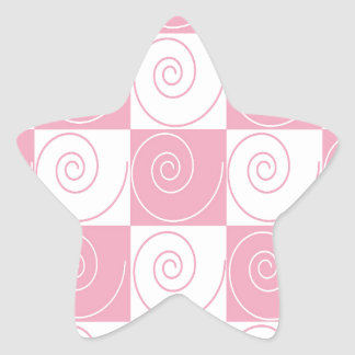 Pink and White Mouse Tails Star Sticker