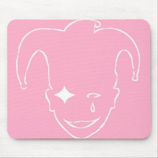 Pink and White MTJ Mouse Pad