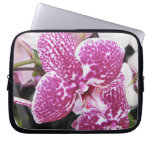 Pink and White Orchid Laptop Computer Sleeve