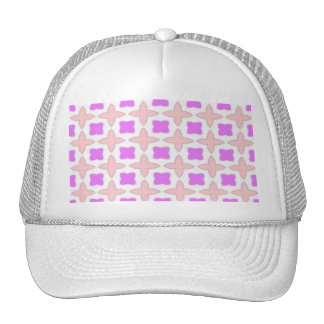 pink and white pattern trucker hat