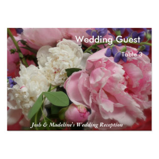 Pink and White Peonies Reception Table cards Business Cards