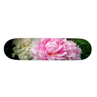 Pink and White Peonies Skateboard Deck