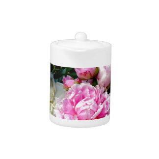 Pink and White Peonies Teapot
