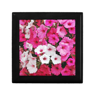 Pink and white petunia flower print gift box