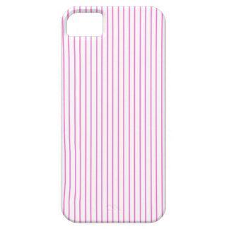 Pink and White Pinstripe iPhone Case