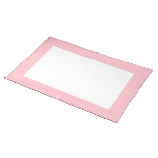 Pink and White Placemat
