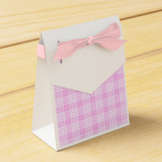 Pink and White Plaid Favor Bag Favor Boxes