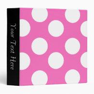 Pink and White Polka Dot 3-Ring Binder