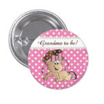 Pink and White Polka Dot | Baby Girl 1 Inch Round Button
