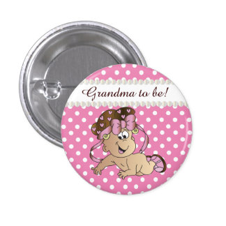 Pink and White Polka Dot | Baby Girl Pinback Button