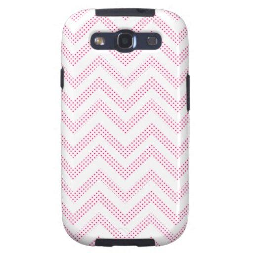 Pink and White Polka Dot Chevrons Samsung Galaxy S3 Case