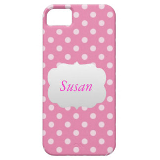 Pink and White Polka Dot (girly) iPhone 5/5S Cases