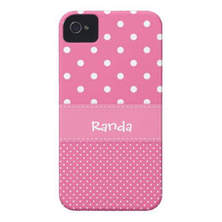 Pink and White Polka Dot iPhone 4 Case
