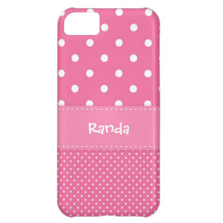 Pink and White Polka Dot iPhone 5 Case