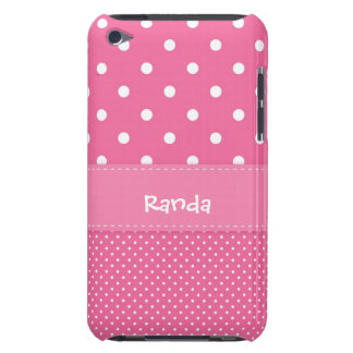 Pink and White Polka Dot iPod Touch Case