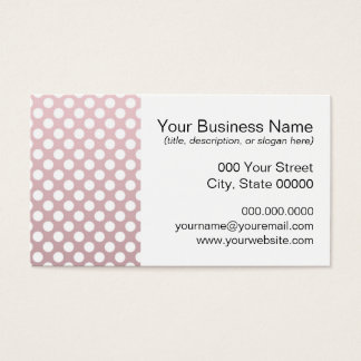 Pink and White Polka Dot Pattern Business Card