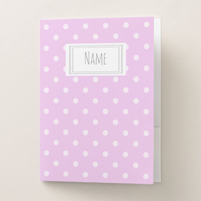 Pink and White Polka Dot Pattern Name/Subject