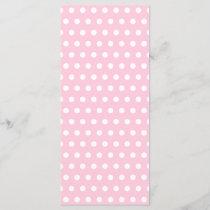 Pink and White Polka Dot Pattern. Spotty.