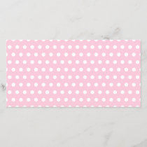 Pink and White Polka Dot Pattern. Spotty.