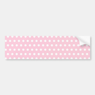 Pink and White Polka Dot Pattern. Spotty. Bumper Sticker
