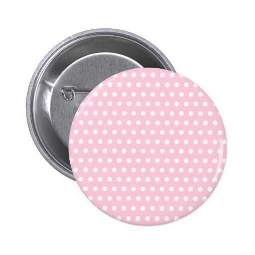 Pink and White Polka Dot Pattern. Spotty. 2 Inch Round Button