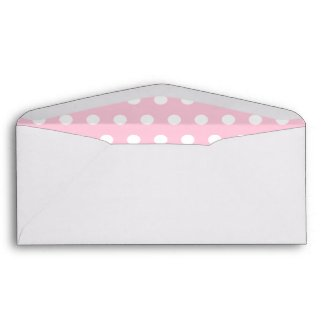 Pink and White Polka Dot Pattern. Spotty. Envelopes