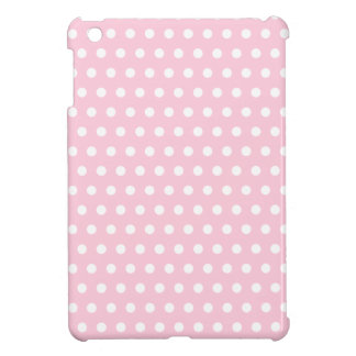 Pink and White Polka Dot Pattern. Spotty. Case For The iPad Mini