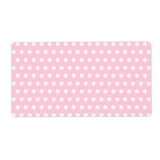 Pink and White Polka Dot Pattern. Spotty. Custom Shipping Labels