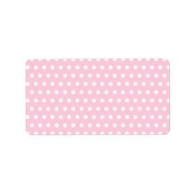 Pink and White Polka Dot Pattern. Spotty. Address Label