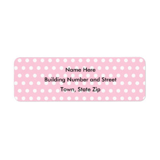 Pink and White Polka Dot Pattern. Spotty. Labels