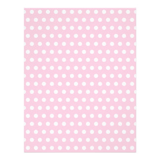 Pink and White Polka Dot Pattern. Spotty. Personalized Letterhead