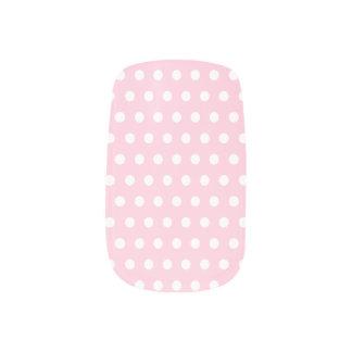 Pink and White Polka Dot Pattern. Spotty. Minx ® Nail Wraps